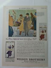 1928 Wilson Brothers mens Plumblend vintage fashion clothing color ad
