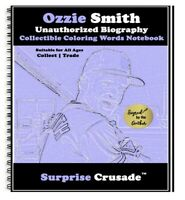 Ozzie Smith Baseball Card Sports Trading Card Notebook AUTHOR AUTOGRAPH SET