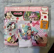 Handcraft Toddler Girls' Panties Dinsey Junior Minnie NWT 3 Pair Sz 2T 3T