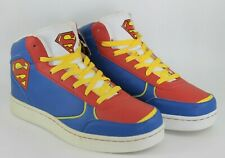 DC Comics Mens UK 8.5 EU 42.5 Superman Hi Top Lace Up Trainers Sneakers Shoes