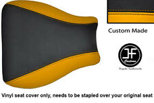 BLACK AND YELLOW VINYL CUSTOM FITS HONDA CBR 600 RR8 07-11 SEAT COVER ONLY