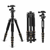ZOMEI Q666 Portable Professional Tripod Monopod&Ball Head Travel for DSLR Camera