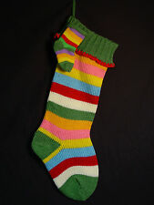 NEW Sweater Knit Rainbow Stocking Set Xmas Cotton Poly Yarn Sock Miniature Baby