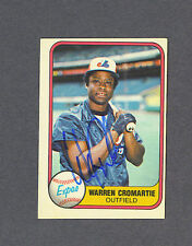 Warren Cromartie signed Montreal Expos 1981 Fleer baseball card