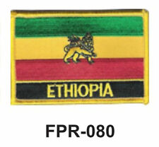 """2-1/2'' X 3-1/2"""" ETHIOPIA Flag Embroidered Patch"""