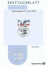 BRD 2003: 17. Juni! Ersttagsblatt der Nr. 2342 mit Bonner Sonderstempel! 1A!