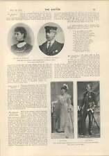1903 Miss Gertrude Kingston In Studio Marie Dainton Lord Lady De Ros
