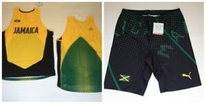 6191 6192 PUMA Jamaica Usain Bolt Shorts Tight Tank Top Tank Athletics