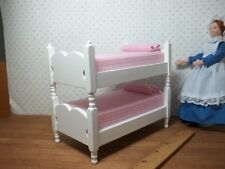 ADORABLE WHITE PAINTED BUNK BEDS   - DOLL HOUSE  MINIATURE