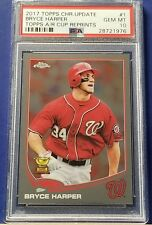 Bryce Harper - 2017 Topps Chrome Update All-Rookie Cup #1  PSA 10