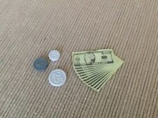 """18"""" doll coins money dollar bills fit American Girl Our Generation toy bakery"""