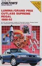 LIVRE/BOOK: manuel de réparation Chevrolet Lumina,Pontiac grand prix,Buick regal