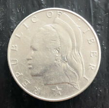 LIBERIA 1962 ONE DOLLAR SILVER VERY NICE CONDITION L3