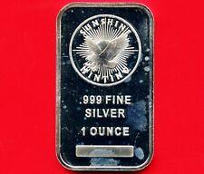 "Sunshine Minting 1 Oz. Silver Bar .999 Pure "" Mint Mark SI """