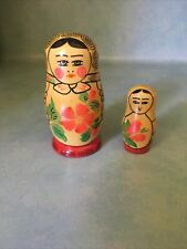 Vintage Ussr Nesting Dolls Great Condition Bright Colors