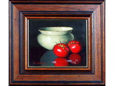 R Berger - 'Still Life With Tomatoes' - Oil on Board. Gallery Provenance.