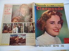 CINEMONDE N°1080 15/4/1955 J.MOREAU T.WRIGHT J.SERNAS FERNANDEL R.MOORE    K10