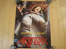 NOS 1985 vtg ANTHRAX band SPREADING THE DISEASE POSTER art MUSIC 80s METAL LOOK!