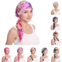 Muslim Women Hijab Hat Turban Head Scarf Chemo Cap Hair Loss Long Tail Bonnet