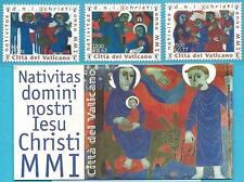Vatikan aus 2001 ** postfrisch MiNr.1390 A -1392 A + MH 0-9 - Weihnachten!