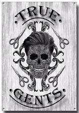 True Gents Barber metallo segno A3, Tatuaggio Flash, barbiere, vecchia scuola, PARRUCCHIERE, sposo