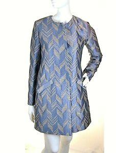Cappotto Donna PINKO Giaccone Made in Italy I062 Grigio/Oro Tg 38 42