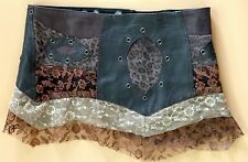 Flower of Life Brokat Festival Skirt Belt Tribal S/M Psy Trance Hippy Pleiadians
