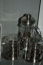 Gift Set of Coffee Tea perculator Stove top Cafetiere a Piston Maker 2 Mugs