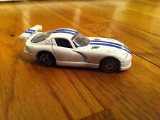 "Vintage Maisto Daimier Chrysler Viper 3"" Long Diecast Sports Car White Damier"