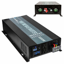 5000W 12V/24V/48V DC to 120/220/240V AC Pure Sine Wave Inverter  Solar Power
