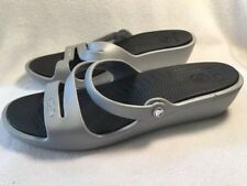 CROCS Patricia Women's Size 10 Silver Gray Slip On Sandals Slides Shoes