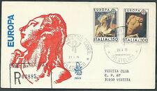 1975 ITALIA FDC VENETIA 393 EUROPA TIMBRO ARRIVO - EDG30