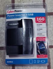 Cyberpower AC & DC Outlets 160w Power Inverter 2.1amp USB Charge port Auto new