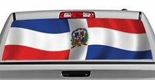 Truck Rear Window Decal Graphic [Flags / Dominican Republic] 20x65in DC84209