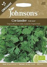 Johnsons Seeds Organic Coriander for leaf Seed