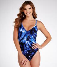 NEW MAGICSUIT MIRACLESUIT Size 12 42 Blue SLIMMING SWIMSUIT $144 RV ROXY 1 Piece