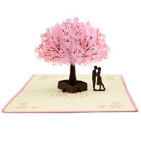 Sn _ 3D Pop Up Carte Anniversaire Mariage Saint Valentin Voeux Invit