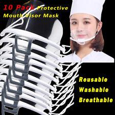 10X Transparent Face Shields Plastic Protective Chef Cover Open Nose Restaurant