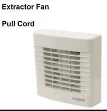 "Plumbob 317841 100mm (4"") Pull Cord Bathroom Extractor Fan Low Noise Toilet"
