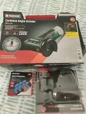 🛠Cordless Angle Grinder with 2Ah Li-Ion Battery, Charger, Metal Cututting Discs