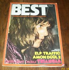REVUE BEST N.43 / Fevrier 72 Keith Emerson, Amon Duul II + Poster Triangle