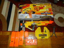 Nerf N-strike Stampede ECS Automatic Blaster Tested with all accessories!