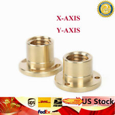 Xy Axis 2 Pcs 1 Set Milling Machine Copper Sleeve Part Copper Brass Nut 32mm