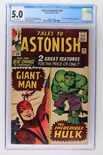 Tales to Astonish #60 - Marvel 1964 CGC 5.0 Giant-Man and Hulk double feature le