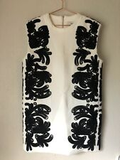 C/meo Collective The Maker Embellished Shift Dress Size Small White NWT