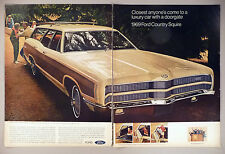 Ford Country Squire 2-Page PRINT AD - 1968 ~~ 1969 model