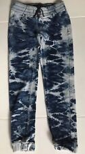 Imperial �� Star Girls Stonewahed Blue Jeggings Jean Sweat Comfy Pants Sz 8 Kids