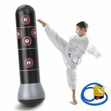 160cm Inflatable Boxing Punching Bag Training Tumbler MMA Sandbags Kids Adult