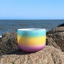 "10"" G Throat Rainbow Quartz Crystal Singing Bowl Meditation Heal Stone"