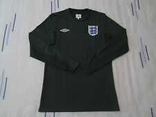 "England goalkeeper football shirt size 34"" green colour Umbro"